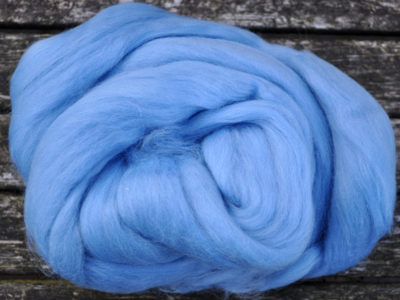 Merino uld spindefiber 4 vandblå