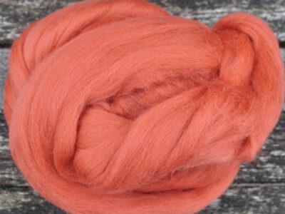 Merino uld spindefiber 61 mørk gl. rosa