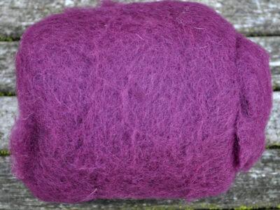 Tyroler uld filtefiber 14 aubergine