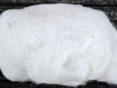 Tyroler uld filtefiber 23 Hvid