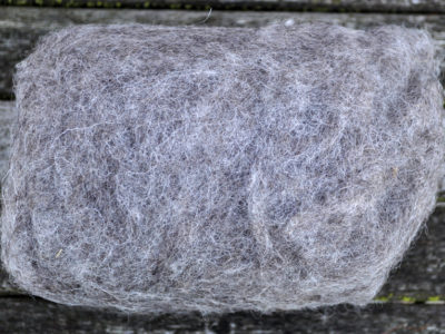 Tyroler uld filtefiber 24 mellemgrå