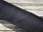 1 meter silkechiffon - farve 02/sort 1