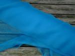 1 meter silkechiffon - farve 30/safirblå 1