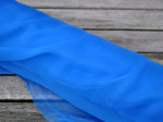 1 meter silkechiffon - farve 35/koboltblå 1