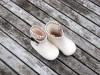 Filthjemmesko baby hvid/brun 1