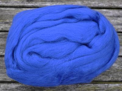 Merino uld spindefiber 66 kongeblaa