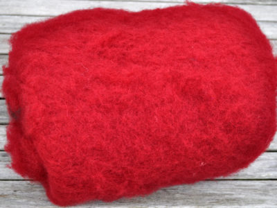 Tyroler uld filtefiber 08 rød