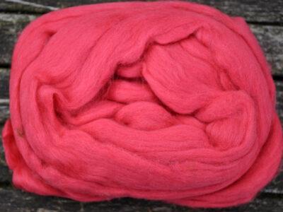 Merino uld spindefiber 24 mørk gl.rosa