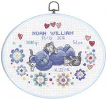 Broderikit til baby fødselstavle Noah William