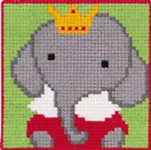 Børnebroderi med elefant