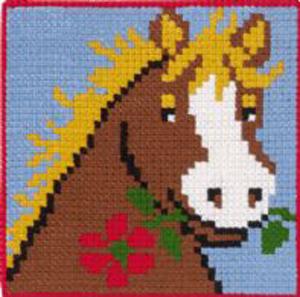 Børnebroderi med hest