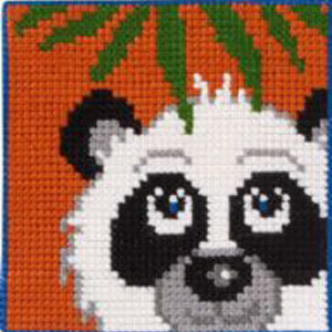 Børnebroderi med panda
