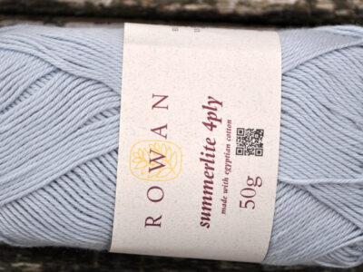 Bomuldsgarn fra Rowan Summerlite himmelblå 419