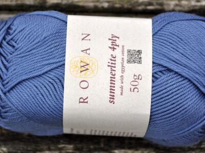 Bomuldsgarn fra rowan Summerlite jeansblå 424