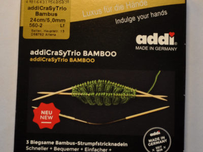 Strømpepinde addi crasytrio bambus