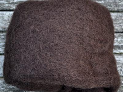 Tyroler uld filtefiber 53 mørkbrun
