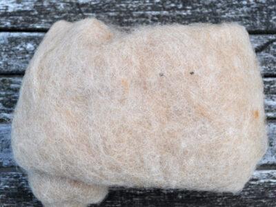 Tyroler uld filtefiber 75 meleret hvede