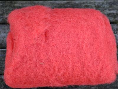 Tyroler uld filtefiber 74 Terracotta