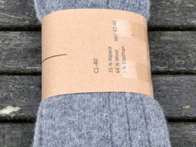 alpaca sokker og strømper grå nuancer