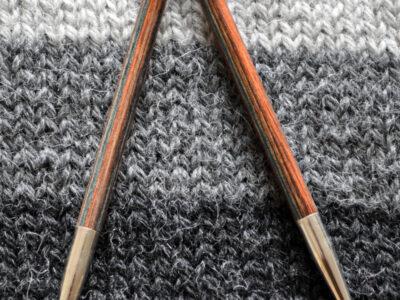 drops udskiftelige strikkepinde træ
