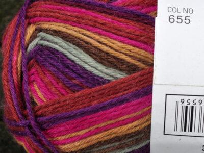 Aurora 6tr strømpegarn farve 655