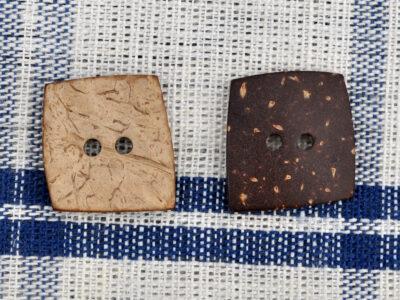 knapper af kokos firkant 25 mm