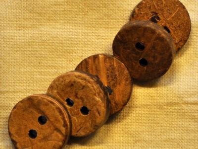 knapper af kokos rund 15mm