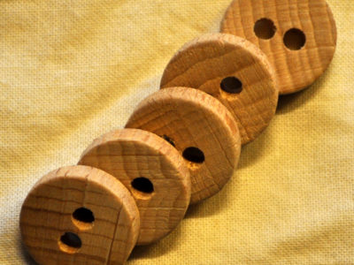 knapper af træ rund 18mm