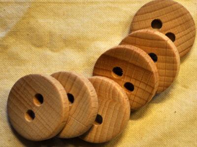 knapper af træ rund 23mm