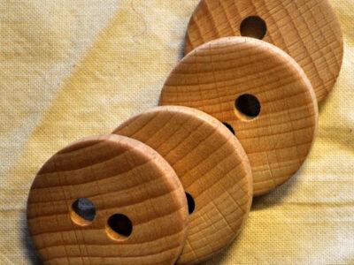 knapper af træ rund 30mm