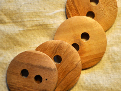 knapper af træ rund 35mm