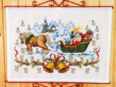 Julekalender Julemand ved kirke