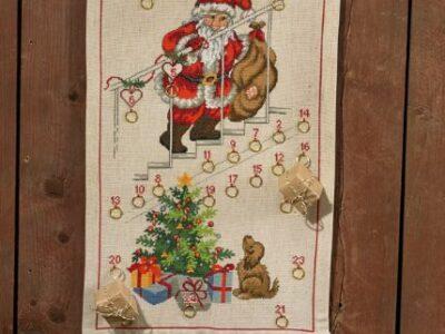 Julekalender Julemand ved trappe