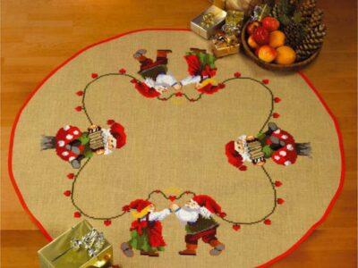 Juletræstæppe Dansende nissepar