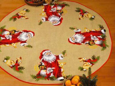 Juletræstæppe Julemandens dyr