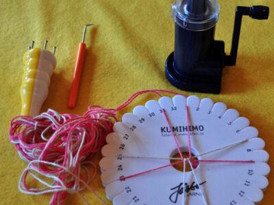 Strikkemøller, strikkeliser og fletteværktøj