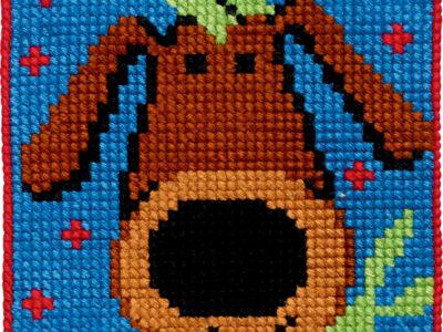Broderikit for børn fra Permin hund 9333