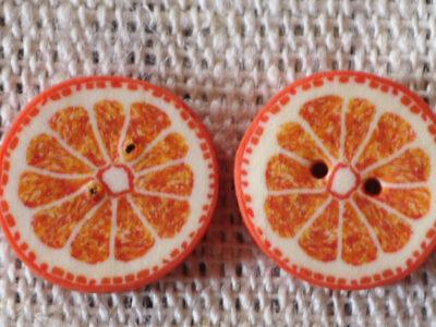 Hamilton Fimo Knap Appelsin