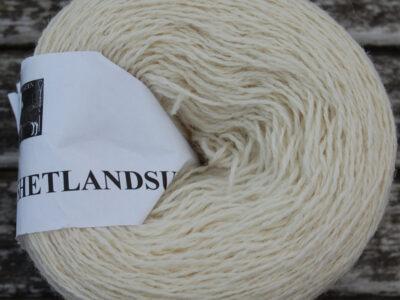 Strikkegarn Shetlandsgarn Hvid 02