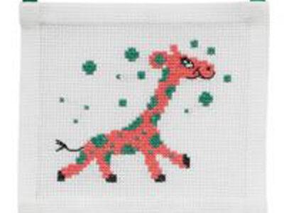 Broderikit til billed med giraf 13-5175