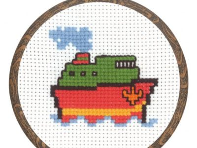 Broderikit til billed med skib 13-0335