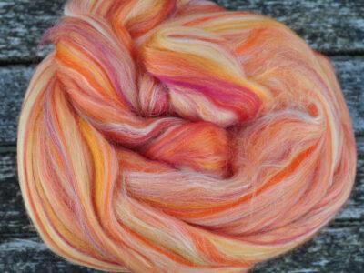 spinde-og filtefiber silke-uld Solopgang 13