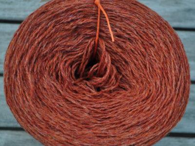 Strikkegarn Shetlandsgarn Rust 22
