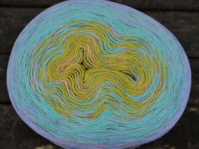 Creative Cotton Degrade Print lime jade lysblå rosa3