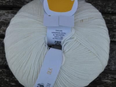 Strikkegarn Strømpegarn Regia silk Offwhite 02