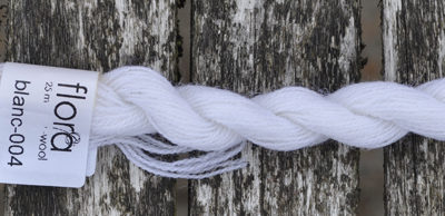 flora wool broderigarn blanc 004