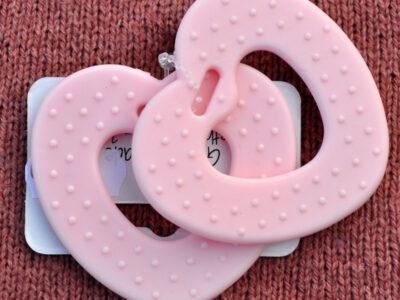 bidering hjerte rosa