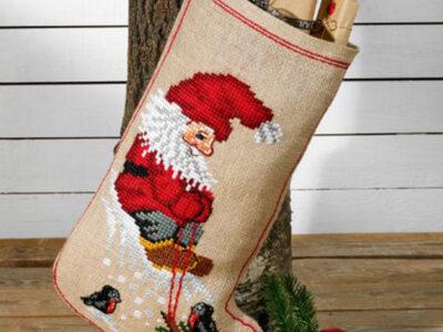 nisse og juletræ