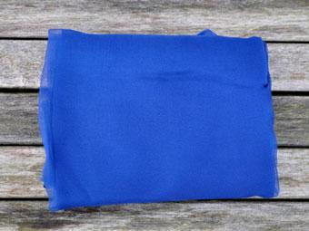 Metervare Silkechiffon 110 cm bred Kinablå 47
