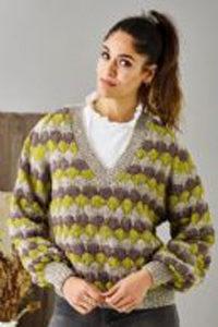 Stribet sweater